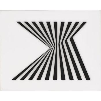 Bridget Riley, (1931), Untitled (Fragment 1), 1965, Screenprint on Perspex. Photo (c) Bridget Riley, 2020. All rights reserved.
