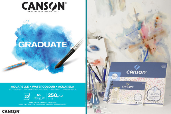 Watercolour pad and watercolour sheets