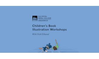 Children's Book Illustration Workshops with logo