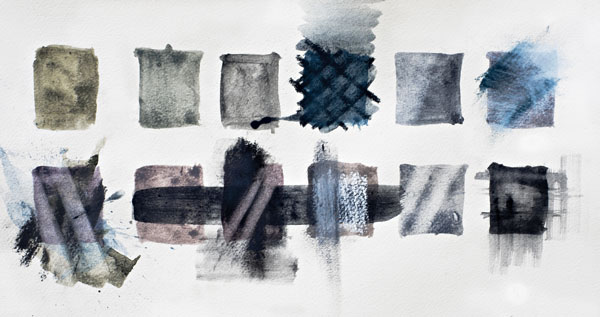 Derwent tinted charcoal paint set swatches