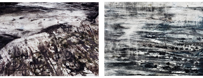 Derwent tinted charcoal paint detail