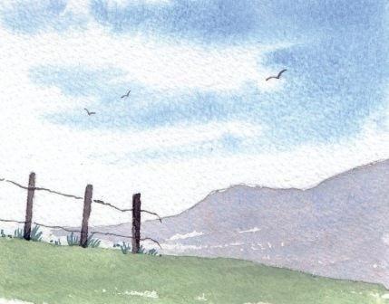 Simple watercolour landscape