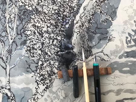 Watercolour paper demonstration