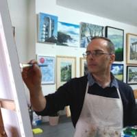 Mike Rollins in studio