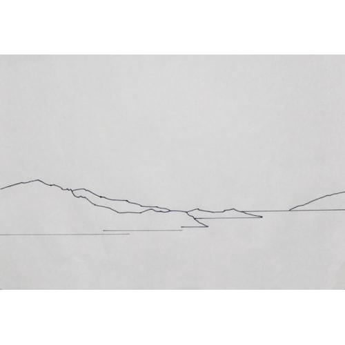 Watercolour landscape drawing
