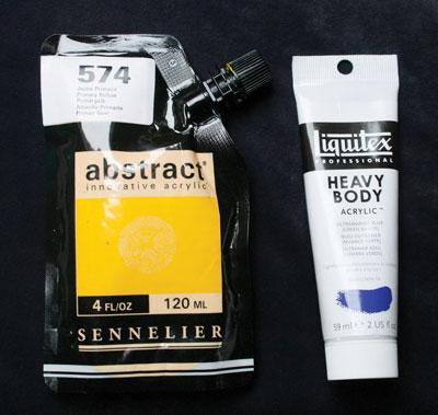 Types of acrylic paint