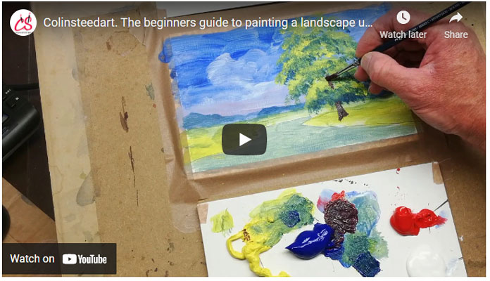 Beginner guide to acrylic painting