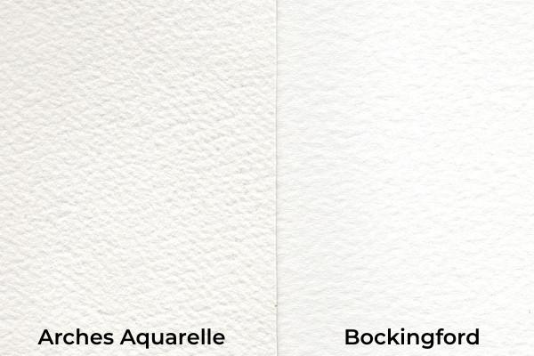 Rough watercolour paper comparison image