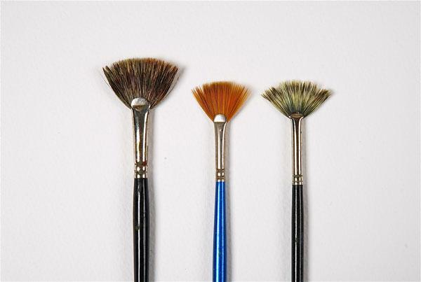 Fan paint brushes