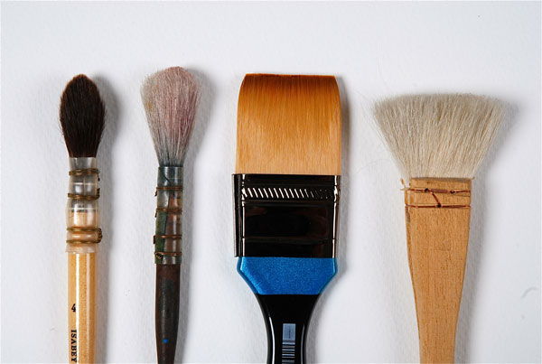 Mop paint brushes