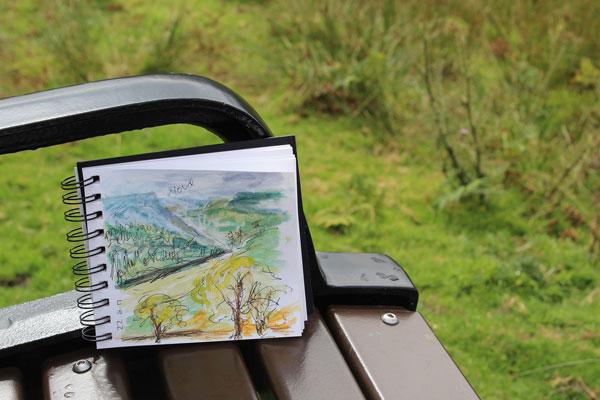 Plein air sketchbook