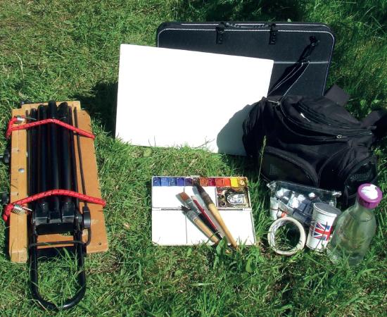 Painting plein air supplies
