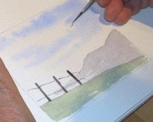 Easy watercolour landscape