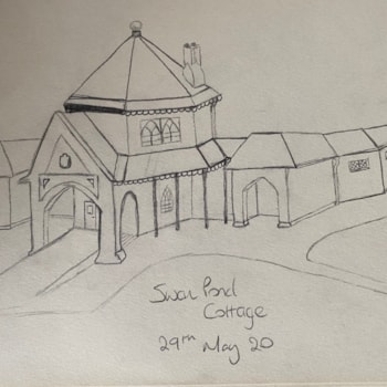 Swan Pond Sketch