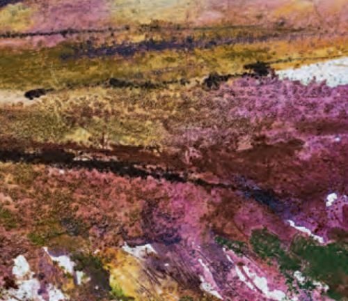 Mixed media using gesso and pumice