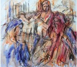 Paintin a musical trio