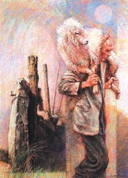Carrying Sheep by Ken Gofton
