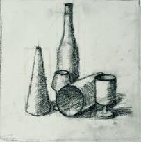 How to sketch a still life - stage 2