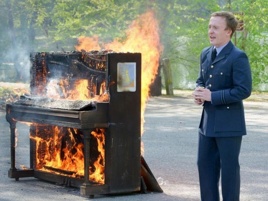 Piano burning