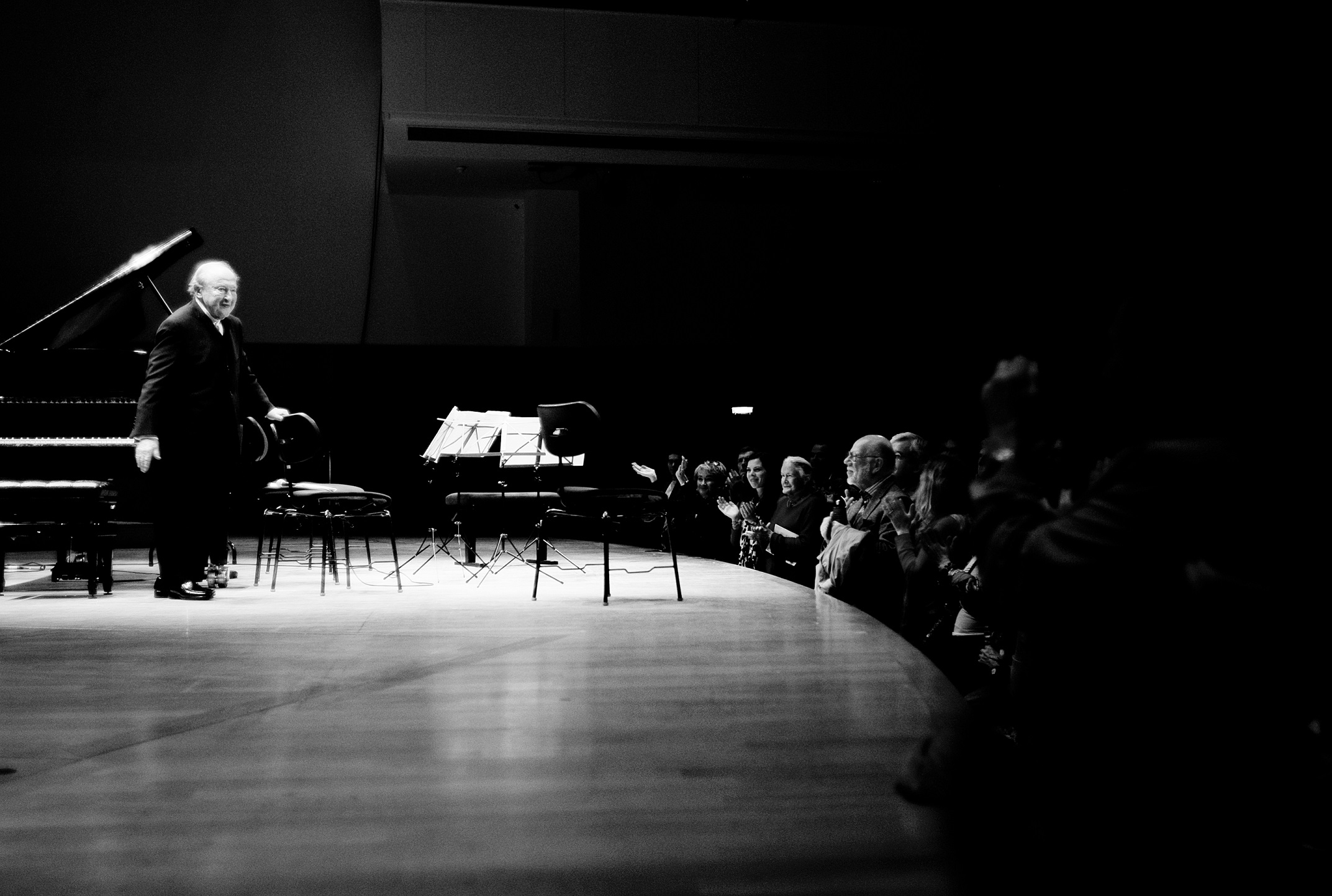 Menahem Pressler performs at his 90th birthday concert