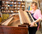Piano conservation specialist Lucy Coad