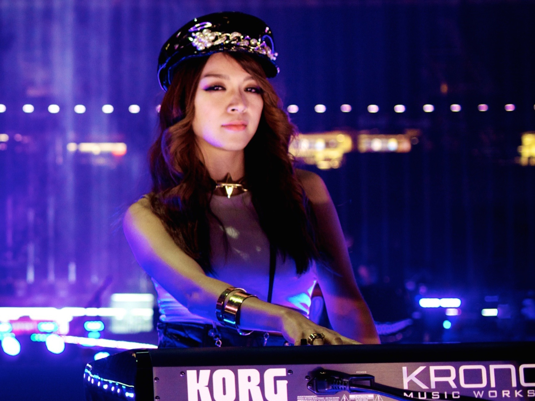 Rie Tsuji performing live at the Superbowl 2016