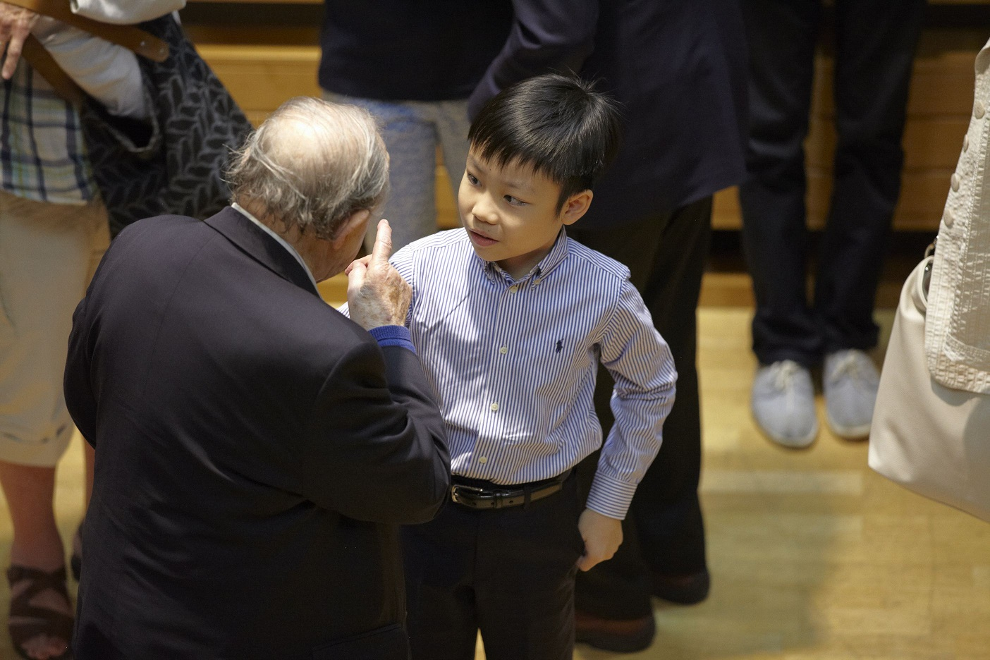 Menahem Pressler with a young student