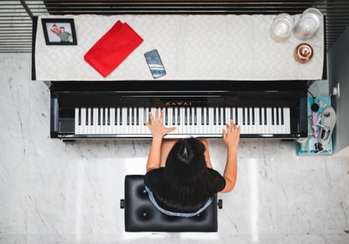 Playing piano from above