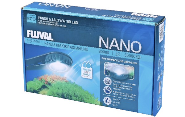 Small and bright: the new Nano Eco LED aquarium light from Fluval.