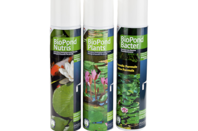Aerosol pond treatments are new from Prodibio.