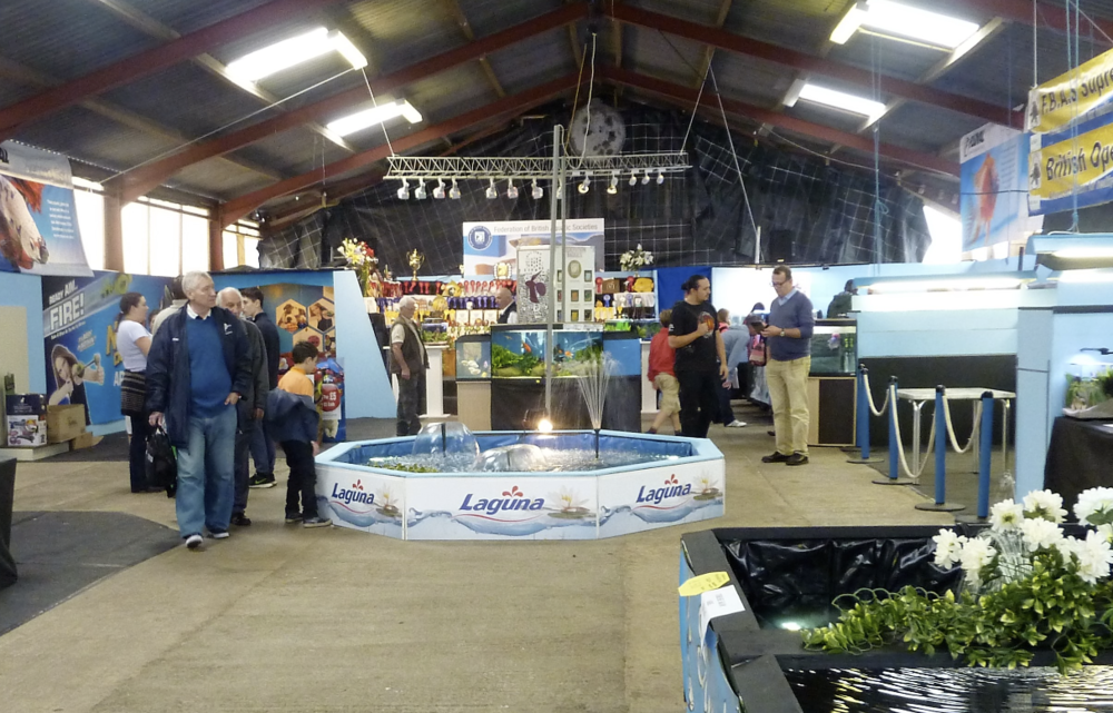 The entrance marquee at this year's Festival of Fishkeeping.