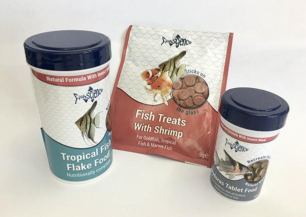 We have six bundles of fish food to be won.