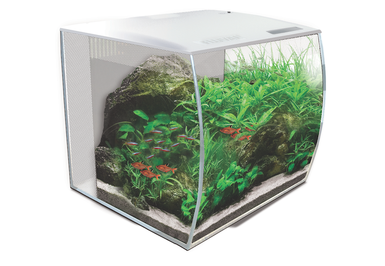 Fluval's Flex aquarium now has a white option in two sizes.