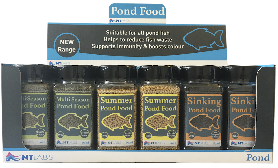 NT Labs' new range of pond foods.
