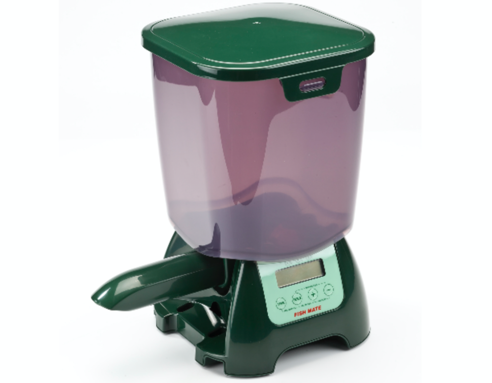 This pond fish feeder from Fish Mate will keep your goldfish and Koi happy and well fed this coming season!