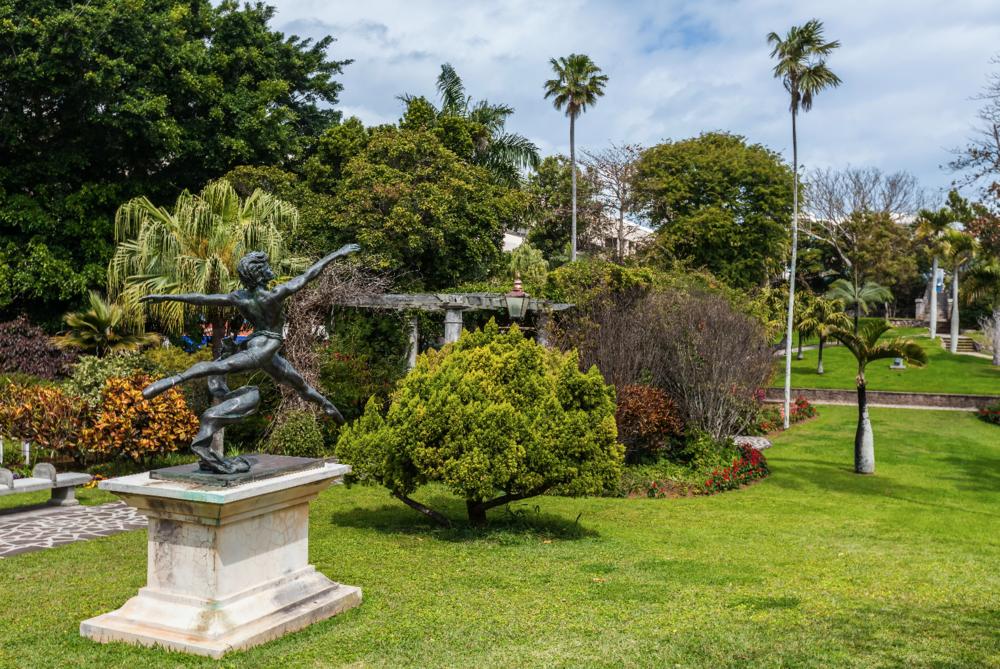 The peaceful Queen Elizabeth Park in Hamilton, Bermuda, where an act described as 'overt cruelty' took place.
