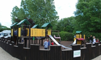 Children will enjoy the large outdoor play area