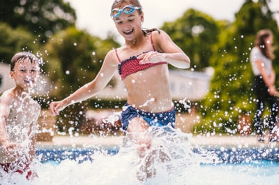 Cause a splash in our outdoor pool