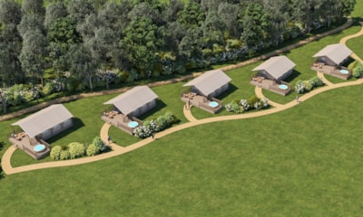 New for 2021! Safari Tents with Hot Tubs