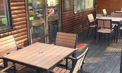 Enjoy a snack or meal in the on-site cafe