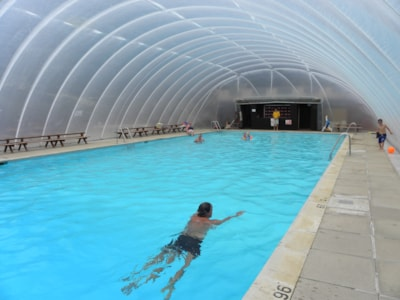 Swimming Pool with Dome up