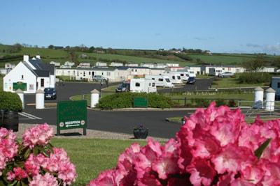 Beautiful views across Ballyness Caravan Park