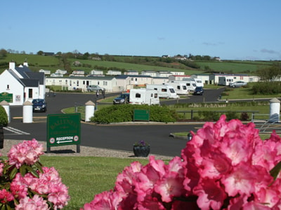 Beautiful views across Ballyness Caravan Park