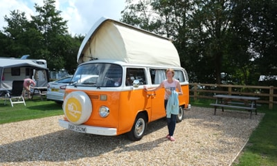 Large pitches for campervans, motorhomes and caravans