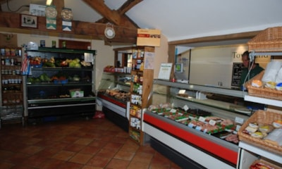 The on-site farm shop also has a butchers selling fresh meat from the farm