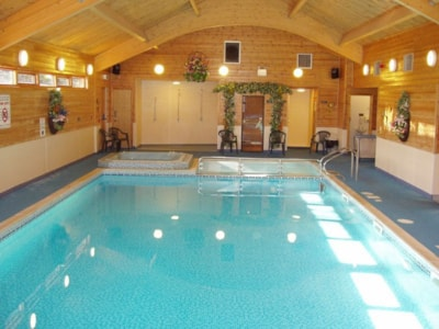 Lincoln Farm's indoor pool would not be out of place in a posh hotel