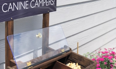 Canine camper welcome
