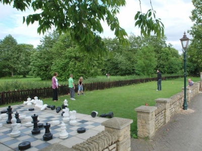 Large outdoor chess and pitch and putt appeal to families