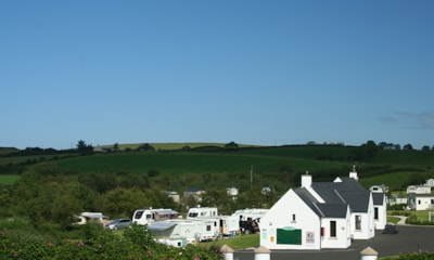 Rambling hills surrounding Ballyness Caravan Park