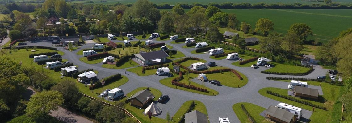 Aerial of Concierge Camping